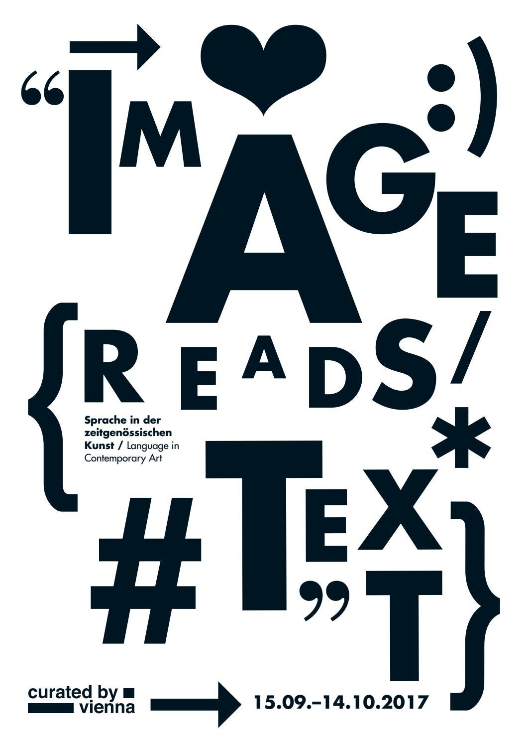 curated by_vienna 2017: image/reads/text. Language in Contemporary ...