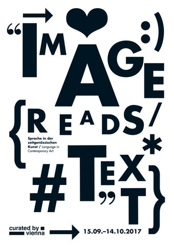 Curated By Vienna 2017 Image Reads Text Language In Contemporary