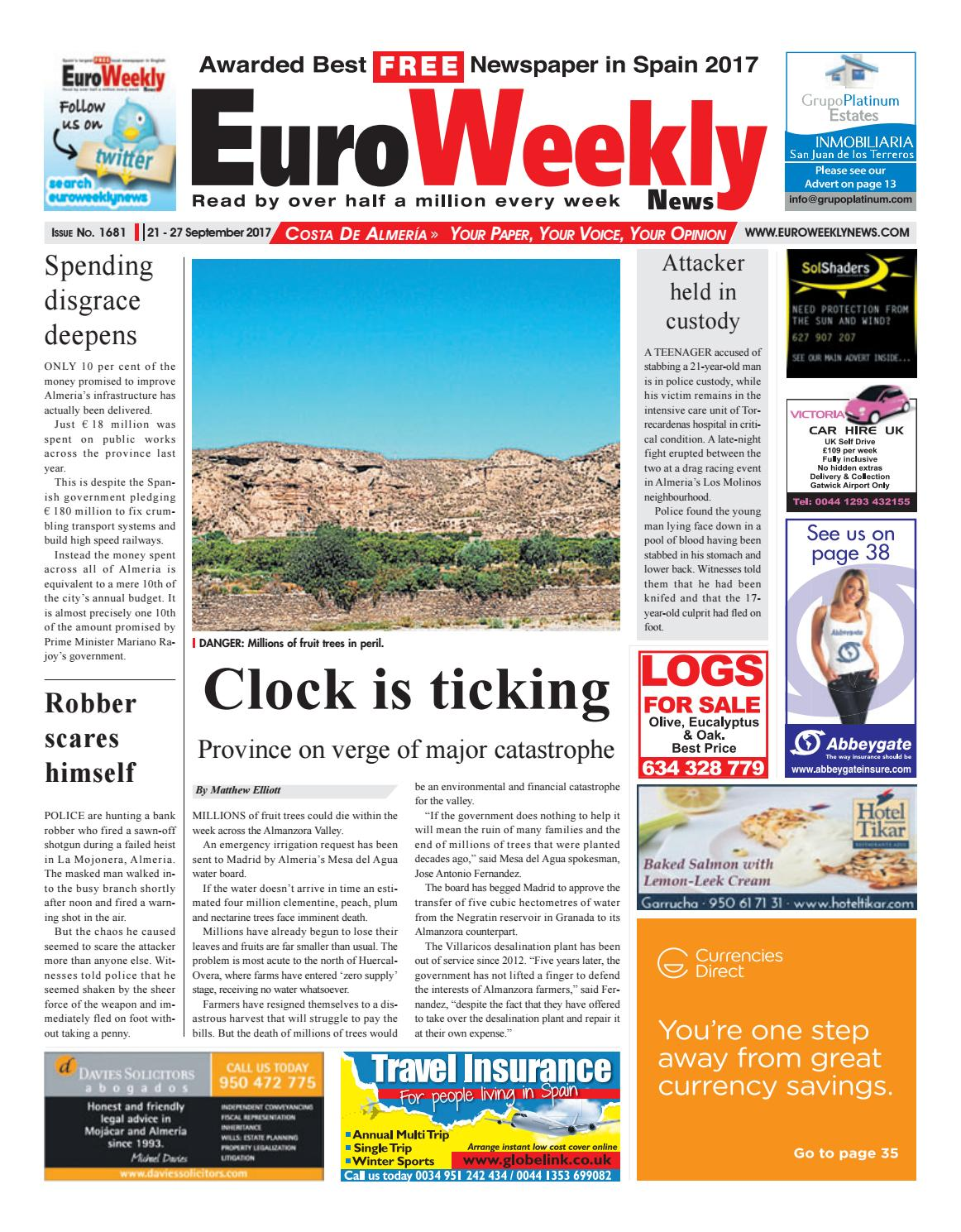Euro Weekly News - Costa de Almeria 21– 27 September 2017