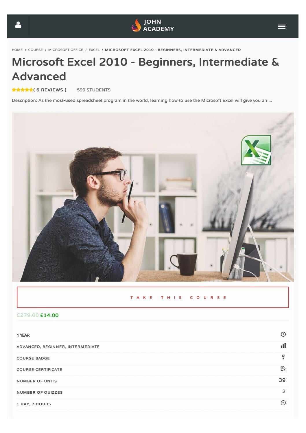 Microsoft Excel 2010 Beginners Intermediate Advanced By