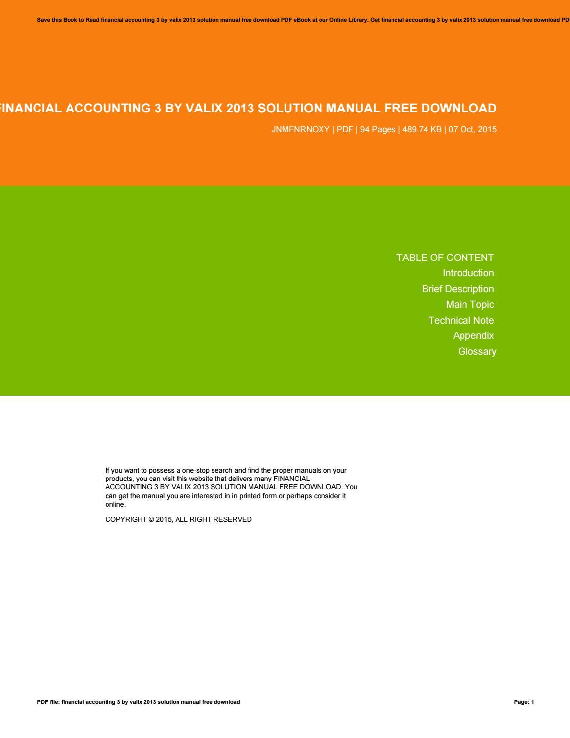 Financial accounting 3 by valix 2013 solution manual free download by  kiklas76balik - issuu