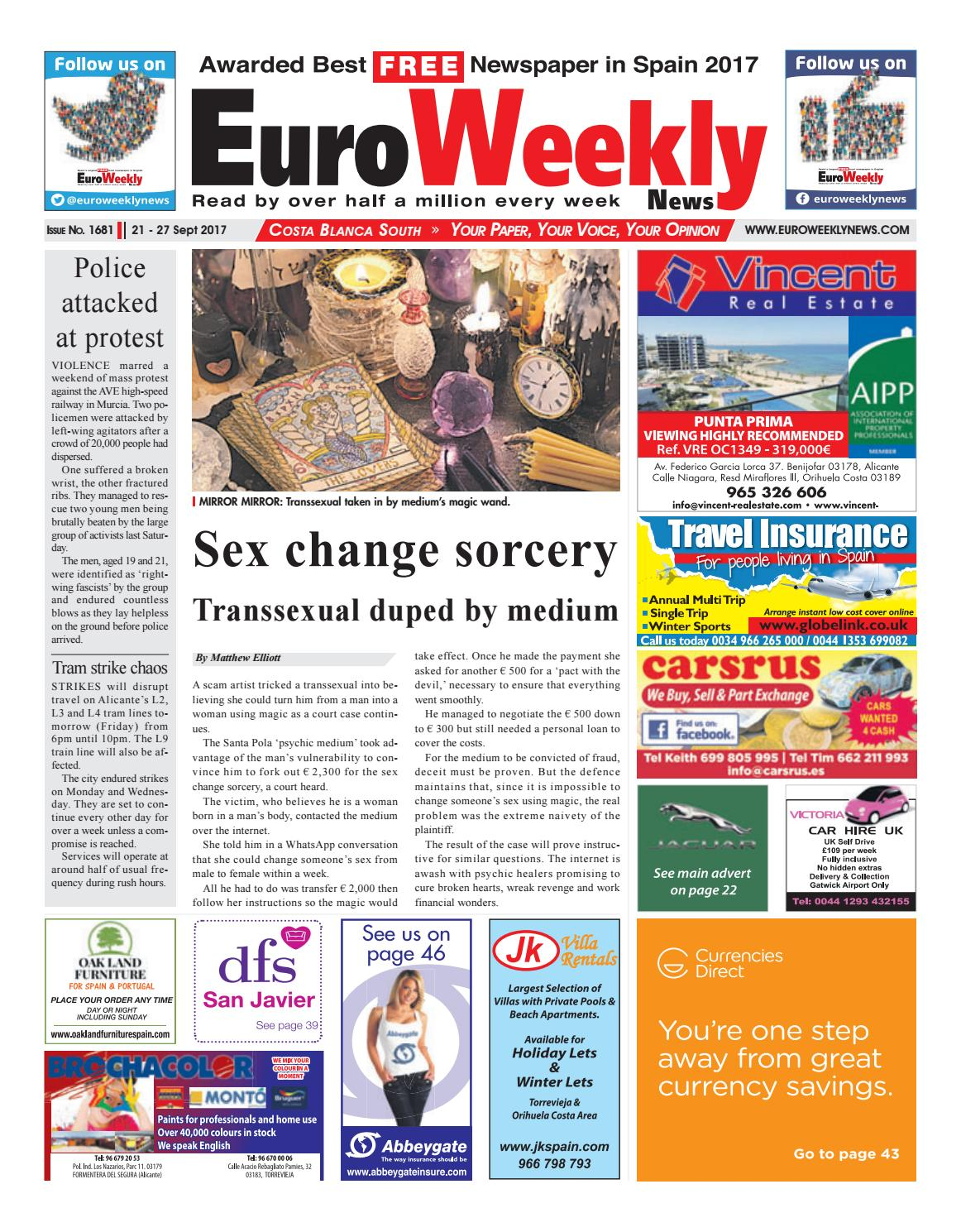 the best attitude 77f25 8980d Euro Weekly News - Costa Blanca South 21– 27 September 2017 Issue 1681 by  Euro Weekly News Media S.A. - issuu
