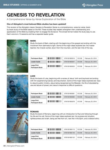 Abingdon Press Spring & Summer 2018 Trade Catalog by