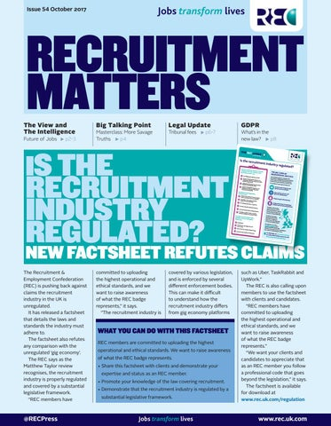 recruitment matters october 2017 by redactive media group issuu