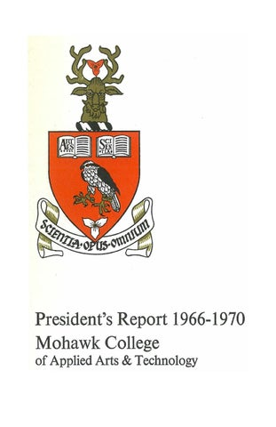 1966 70 Mohawk President S Report By Mohawk College Alumni Association Issuu