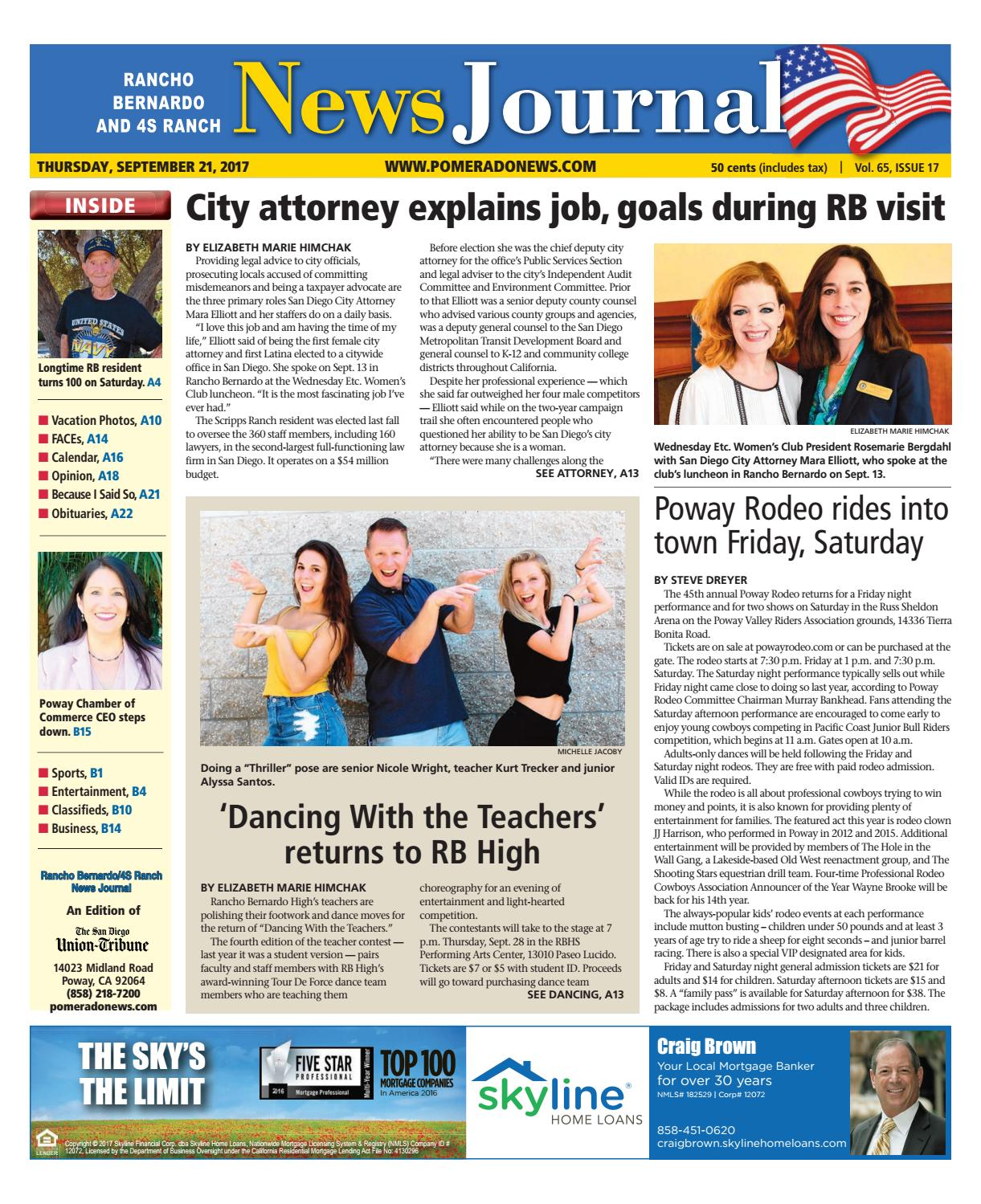 b9228fd6338fa1 Rancho Bernardo News Journal 09 21 17 by MainStreet Media - issuu