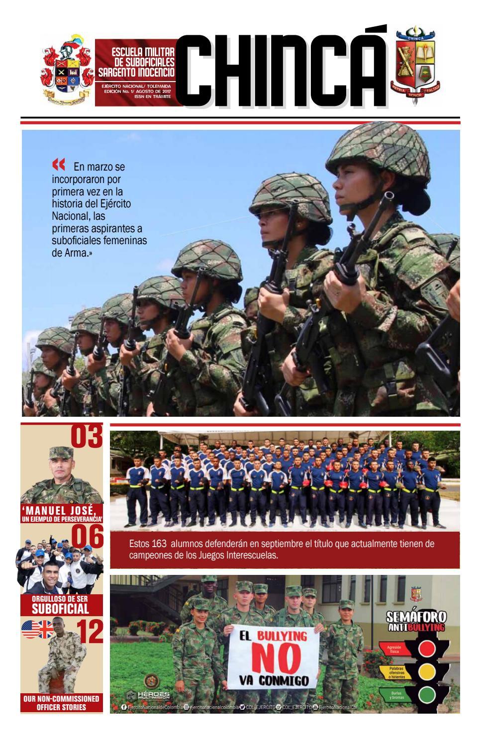 Periódico Chincá by Escuela Militar de Suboficiales Sargento ...