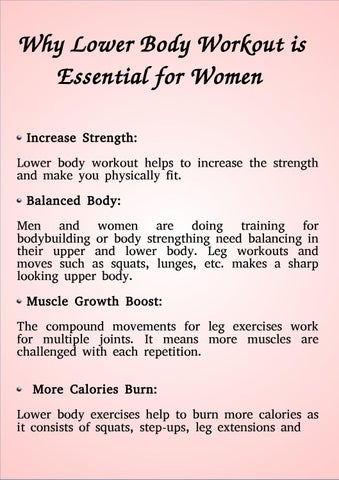 Why Lower Body Workout Is Essential For Women Increase Strength Helps To The And Make You Physically Fit