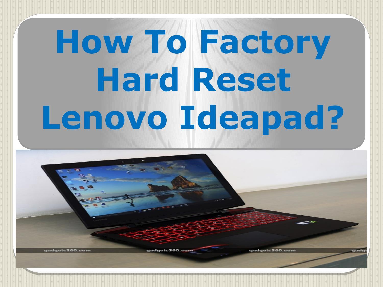 Restore Lenovo Ideapad Factory Conditions – Dibujos Para Colorear