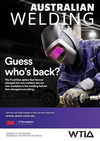 Australian Welding September 2017 By Weld Australia Issuu