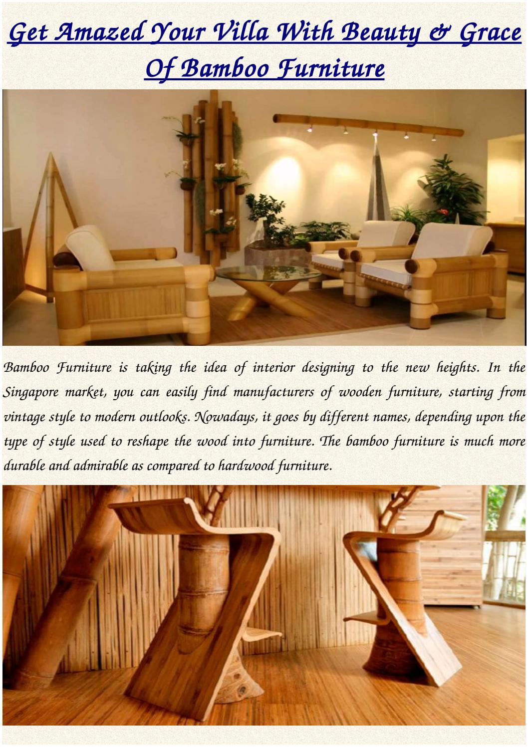 Best Bamboo Furniture Singapore Huat Professional