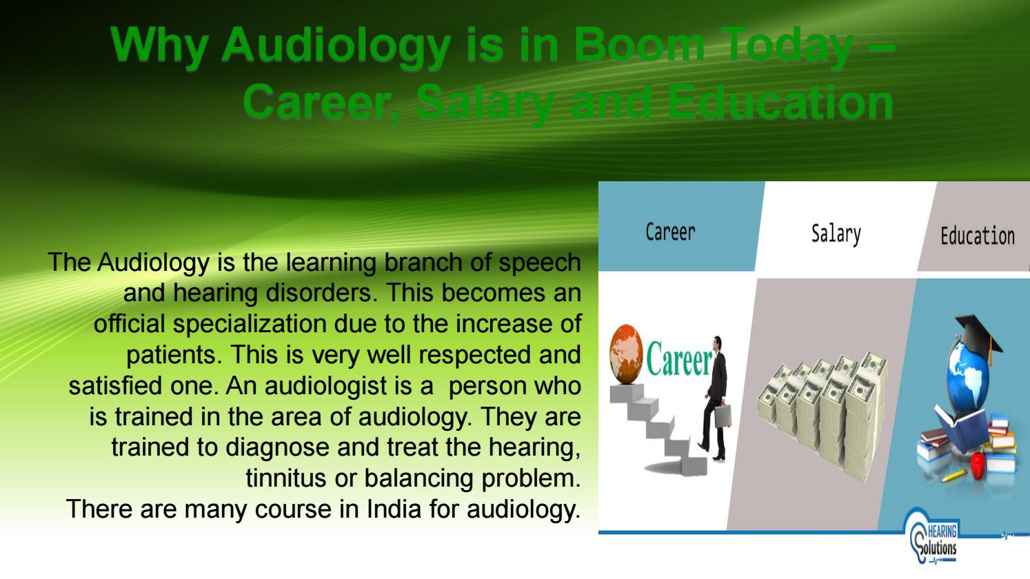 Why Audiology Is In Boom Today Career Salary And Education By