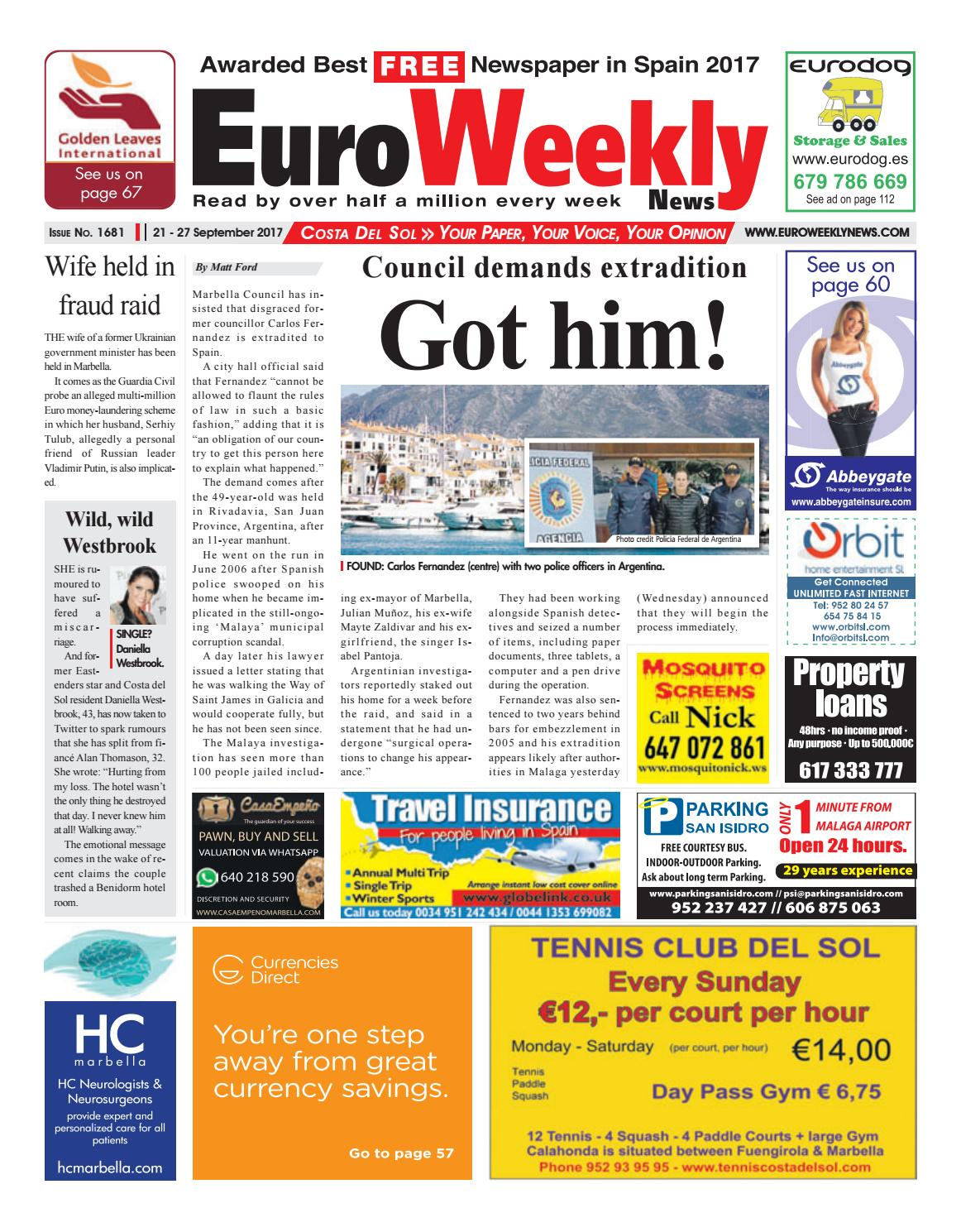 Euro weekly news costa del sol 21 27 september 2017 issue 1681 by euro weekly news costa del sol 21 27 september 2017 issue 1681 by euro weekly news media sa issuu fandeluxe Images