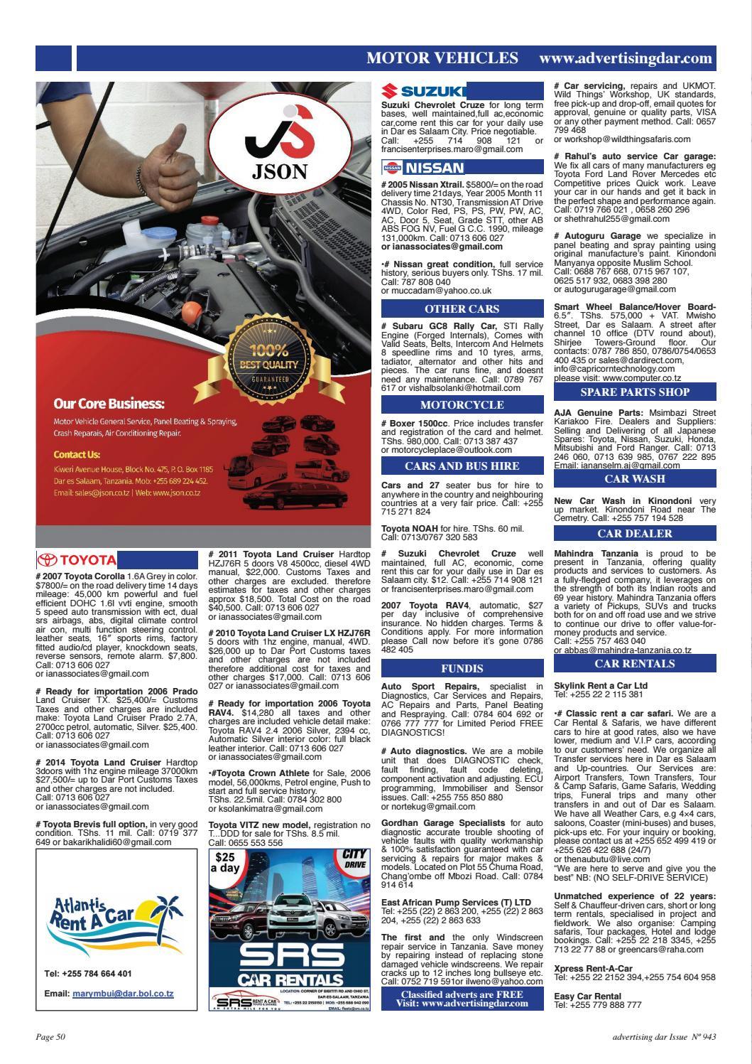 Advertising Dar Issue Nº 943 - 22nd September 2017