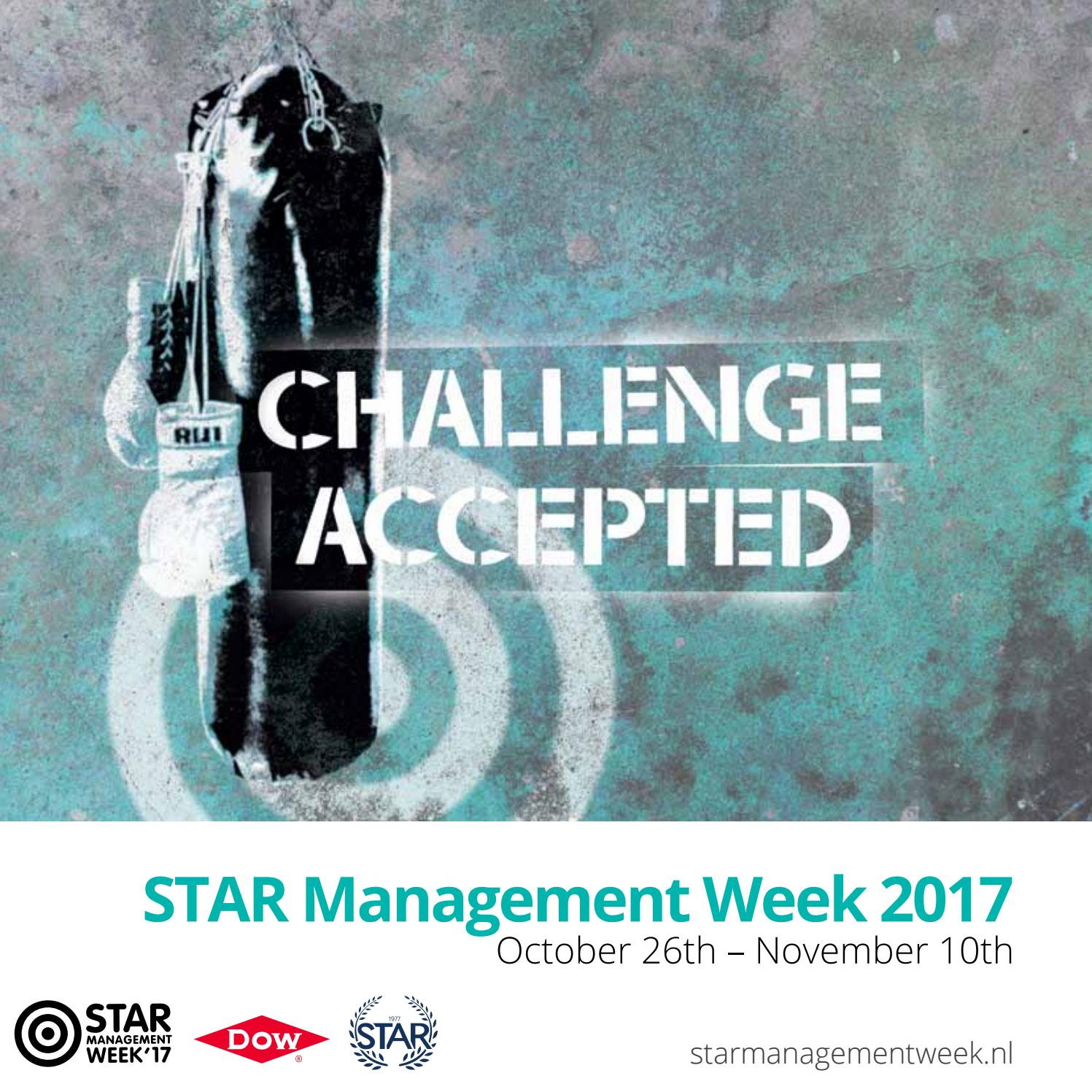 Programme Booklet STAR Management Week 2017 by STAR Management Week ...