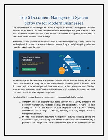Top 5 Document Management System Software For Modern Businesses By Comprose Issuu