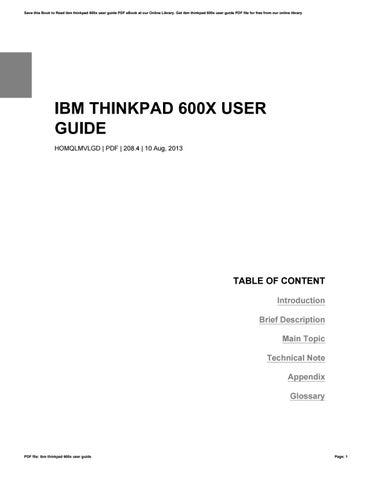 ibm thinkpad 600x user guide by bareno34judis issuu rh issuu com IBM ThinkPad Laptop Manual IBM ThinkPad Manual