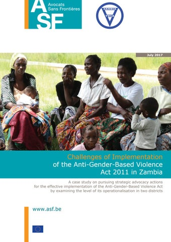 Challenges Of Implementation Of The Anti Gender Based Violence Act