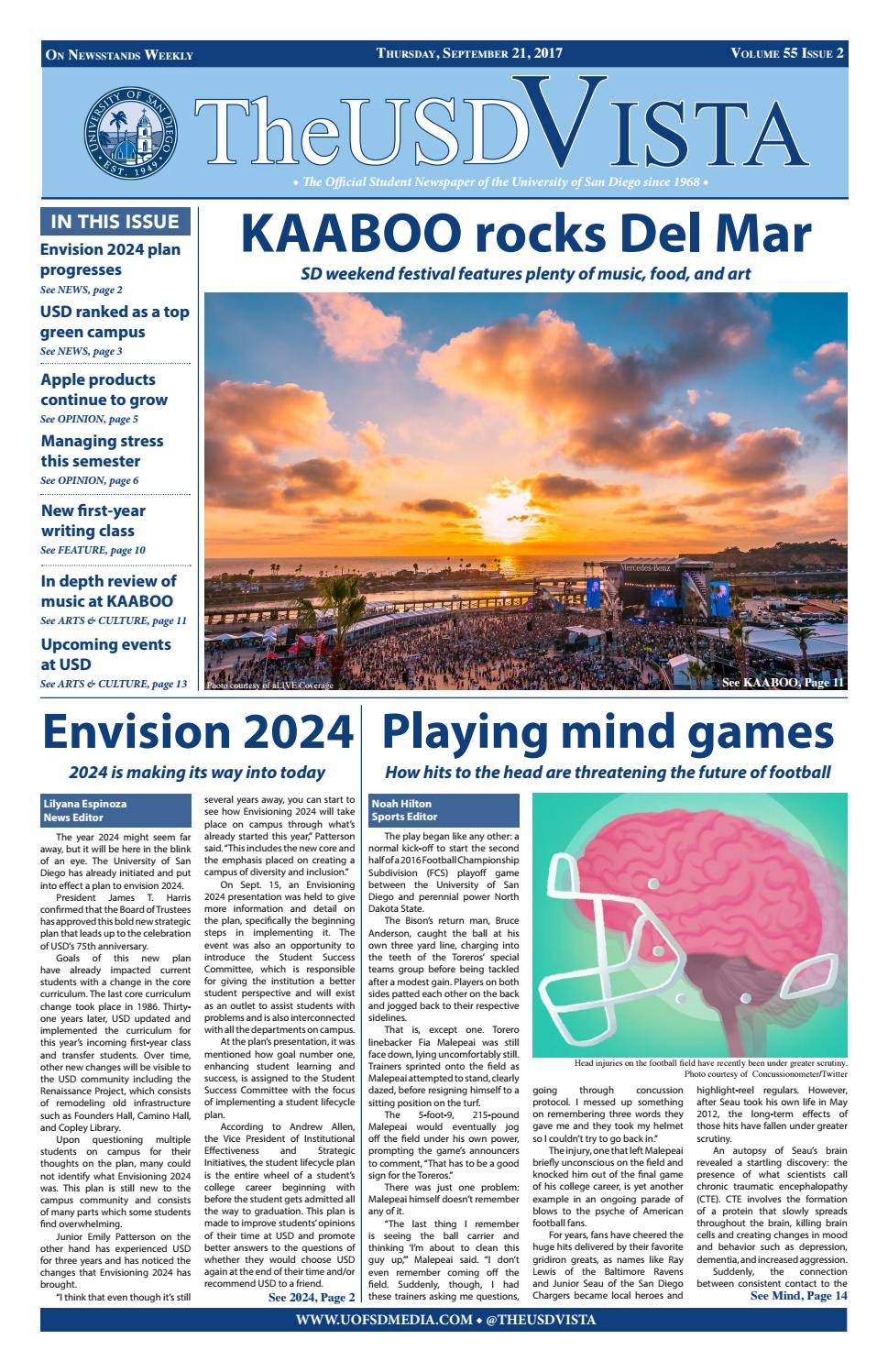 Volume 55, Issue 2 by The USD Vista - issuu