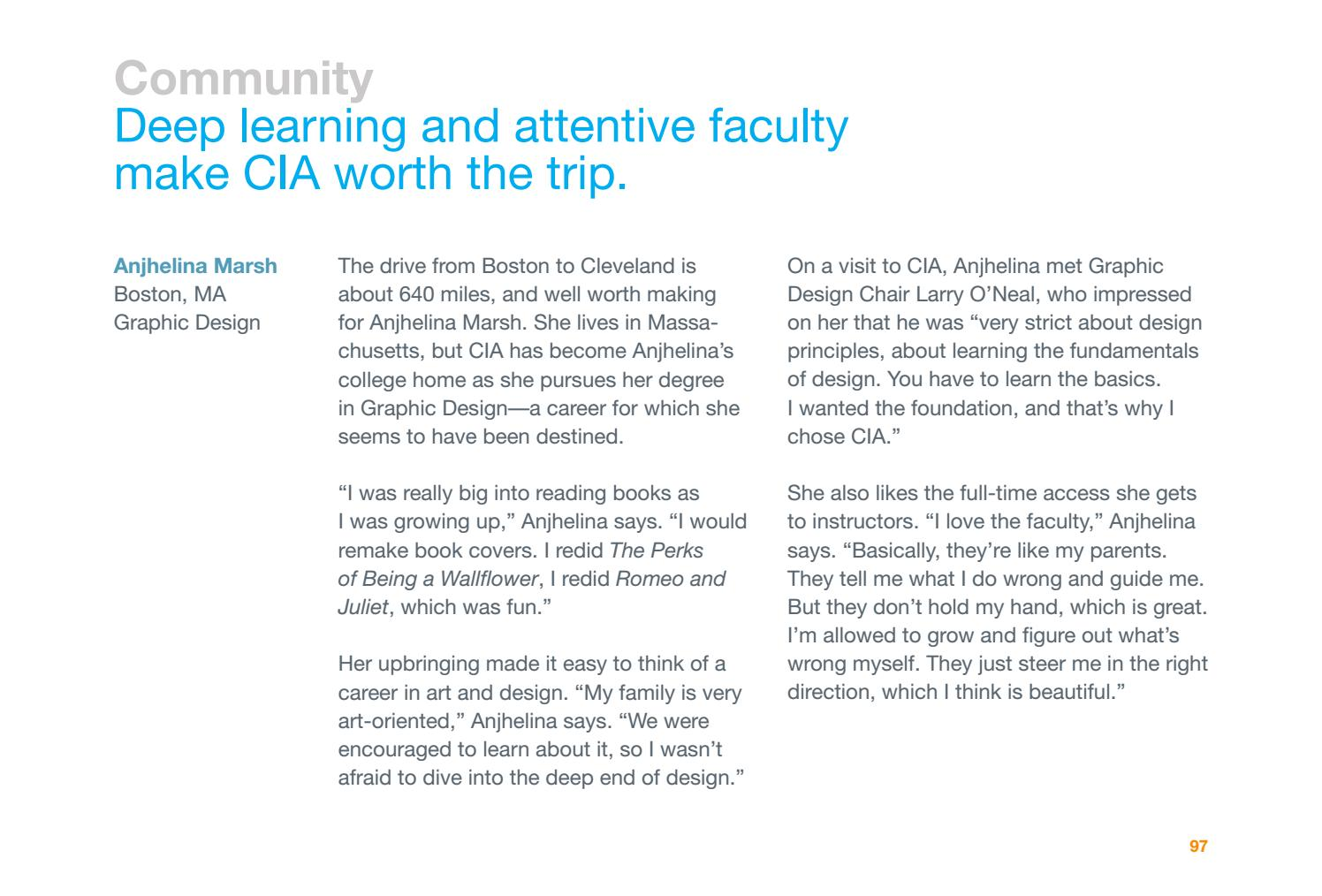 2017-18 CIA Senior Viewbook by Cleveland Institute of Art - issuu