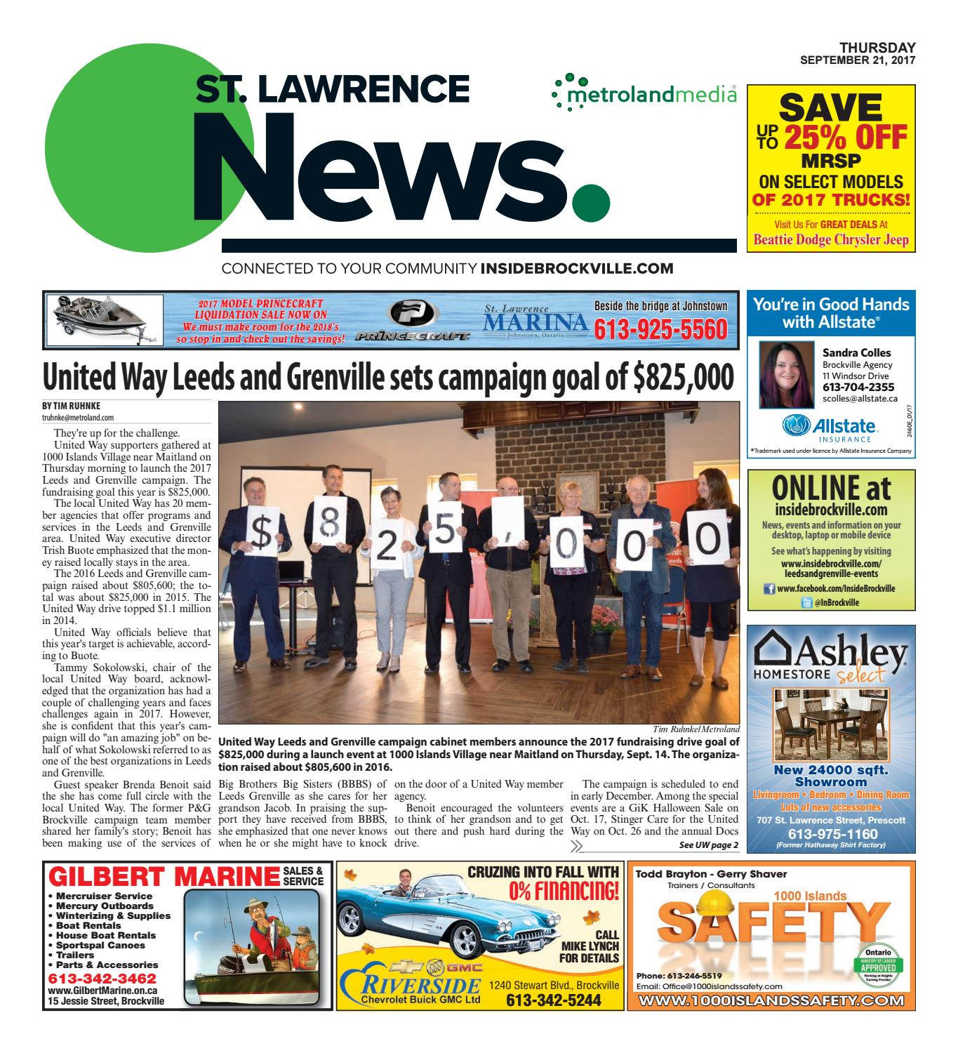 Stlawrence092117 by Metroland East - St  Lawrence News - issuu