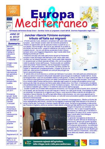 f26cc8169f Europa mediterraneo n 37 del 20 09 2017 by Euromed Carrefour Sicilia ...