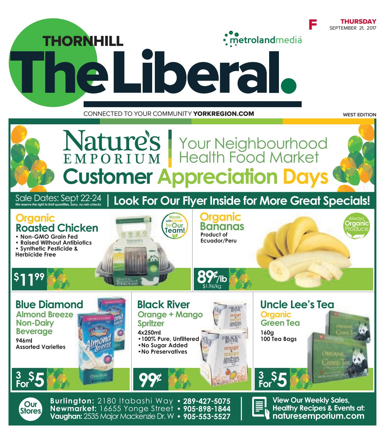 The Thornhill Liberal West, September 21, 2017