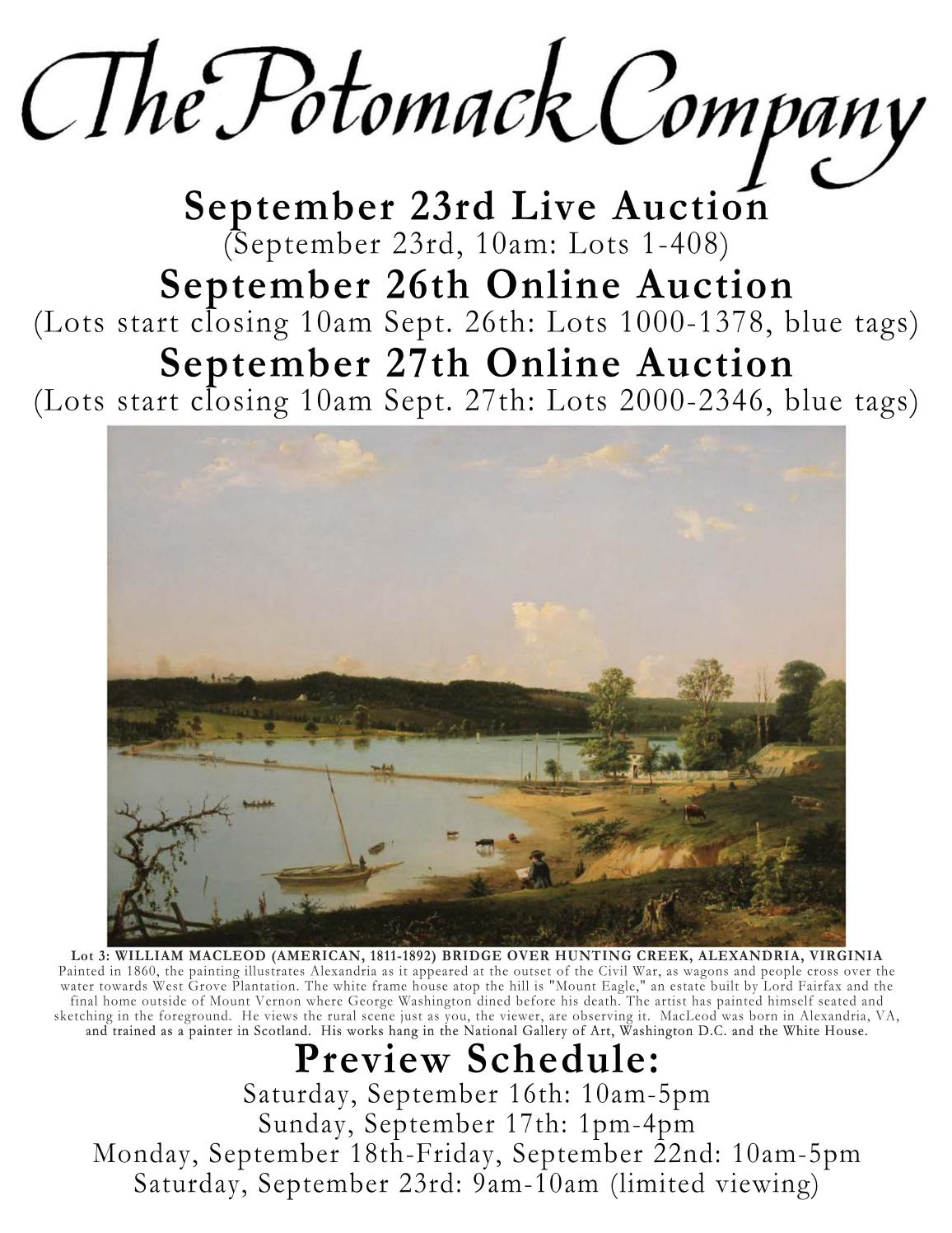 September 23rd 26th 27th 2017 Auction Catalogue By The Potomack Company Issuu