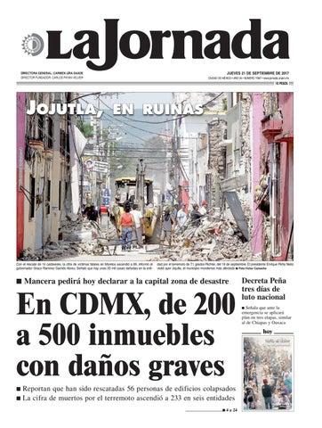 La Jornada 09 21 2017 By La Jornada Issuu