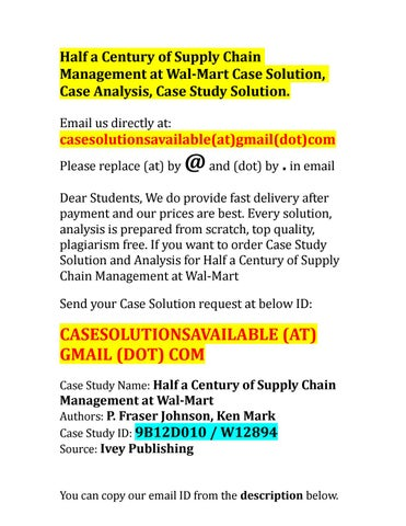 supply and demand analysis of wal mart Supply chain management at wal-mart case solution,supply chain management at wal-mart case analysis, supply chain management at wal-mart case study solution, in 2006, wal-mart, the second largest company in the world by sales, was looking to improve its already efficient supply chain.