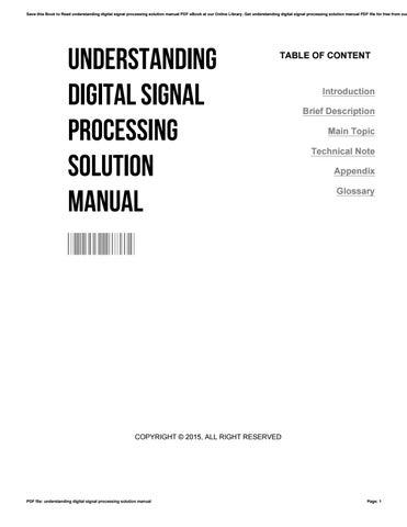 Understanding Digital Signal Processing Pdf