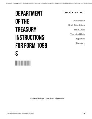 Department of the treasury instructions for form 1099 s by ...