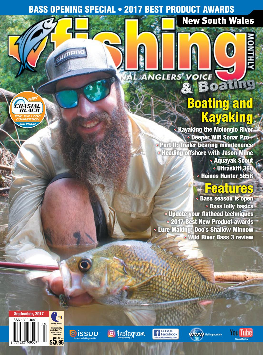 9e92bc1ae2d NSW Fishing Monthly September 2017 by Fishing Monthly - issuu