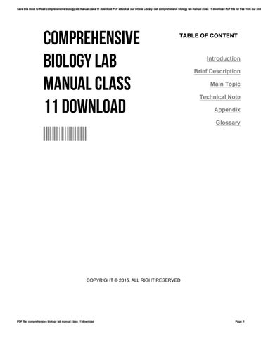 bio lab manual class 11