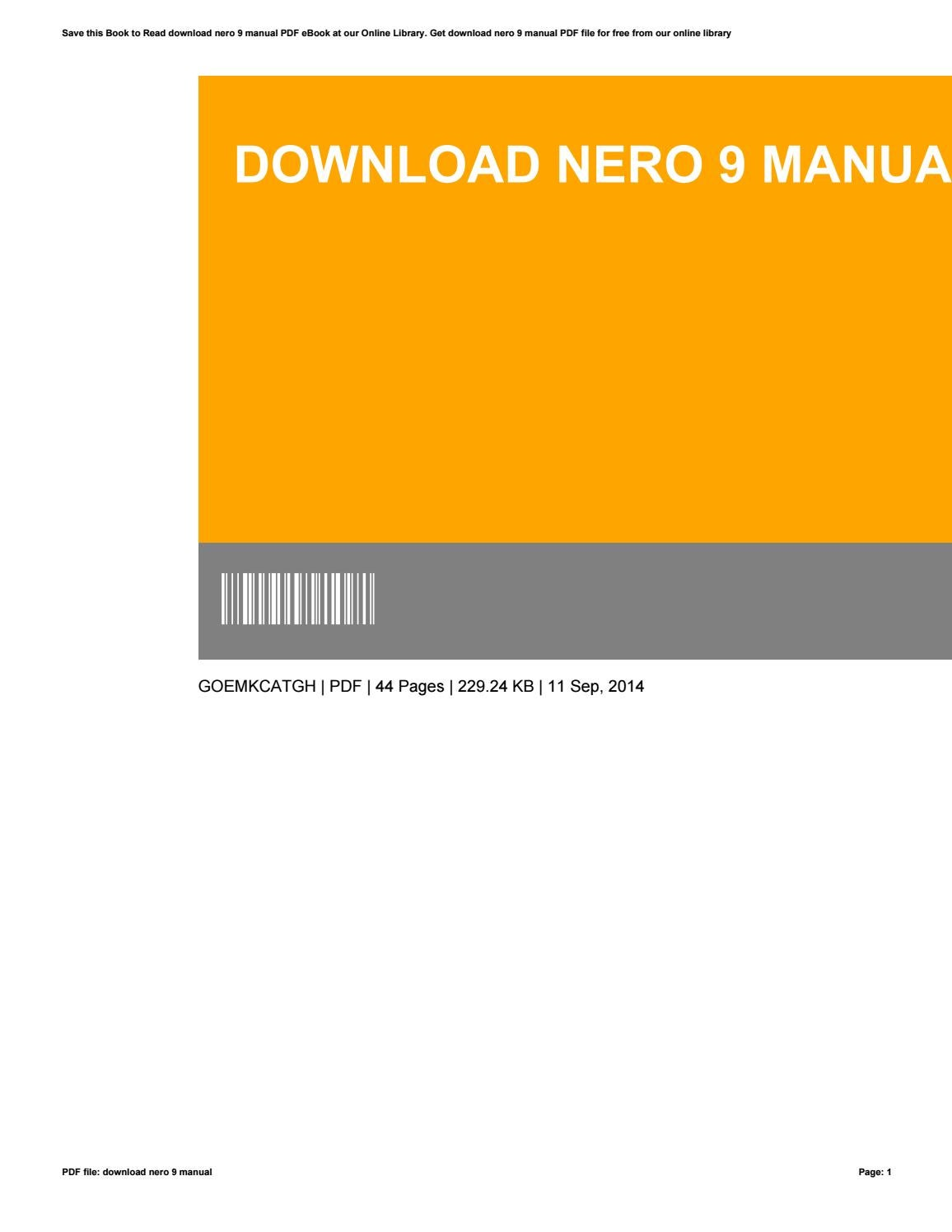 download nero 9 manual by edwardbeeler2812 issuu rh issuu com nero 11 manuals download nero 11 wave editor manual