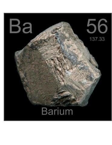 Bario tabla periodica by manugs issuu elemento qumico ba con nmero atmico 56 y peso atmico de 13734 el bario ocupa el decimoctavo lugar en abundancia en la corteza terrestre urtaz Images
