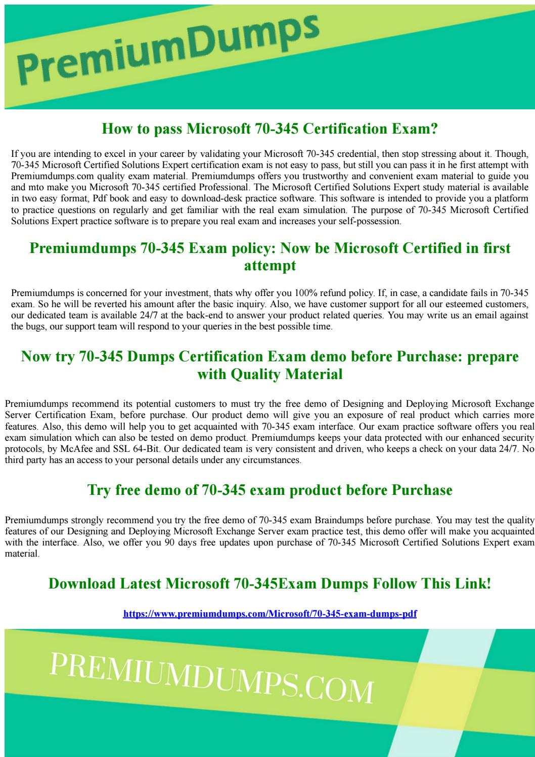 Microsoft 70 345 Microsoft Certified Solutions Expert Exam Questions