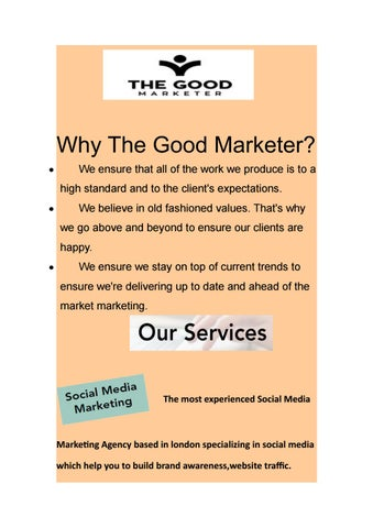 Are You Looking For Online Marketing Agency In London? by The Good