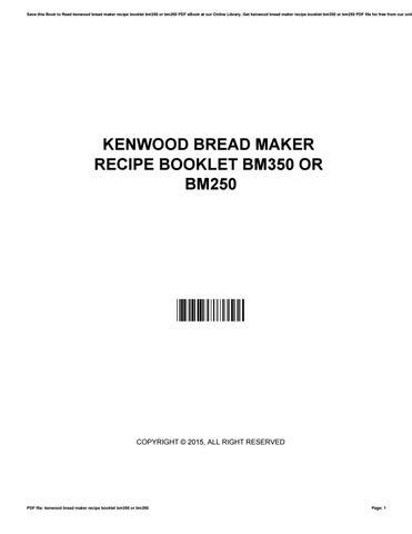 kenwood bm250 manual