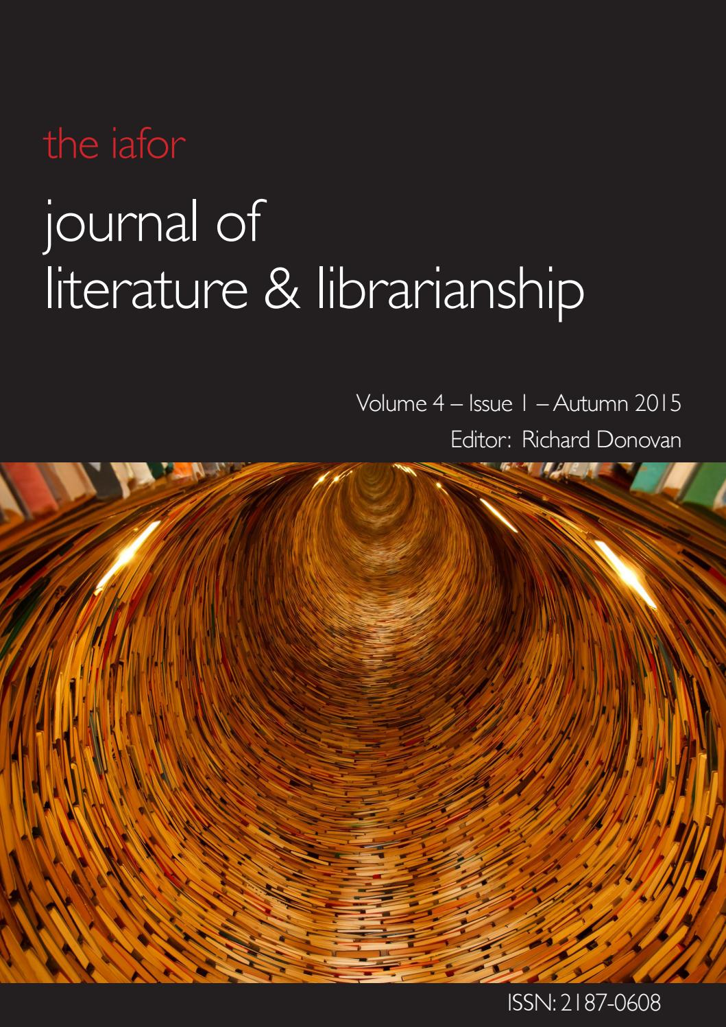 Iafor Journal Of Literature Librarianship Volume 4 Issue 1 By