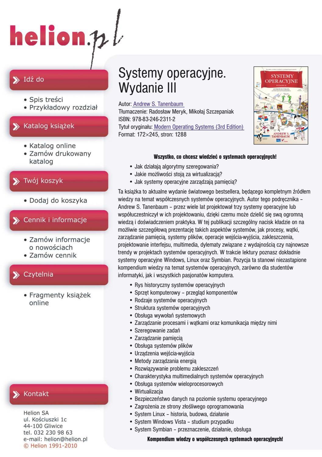 Systemy Operacyje Wydanie Iii By Damian Pielka Issuu