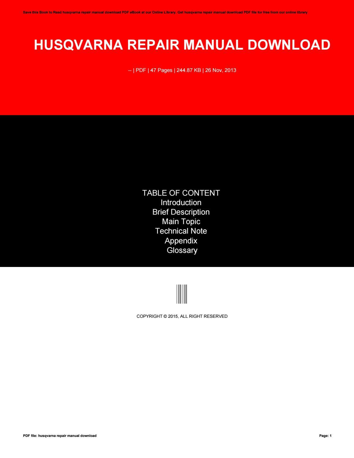 husqvarna wr250 service repair manual pdf 06 ebook