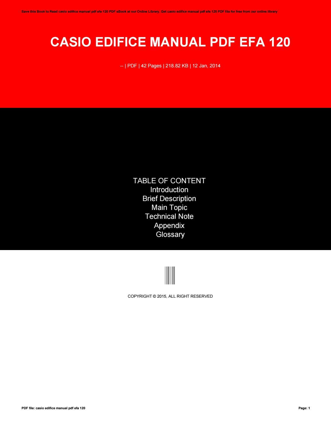 Casio edifice manual pdf efa 120 by VeronicaShears1713 - issuu 04b4d8ef5