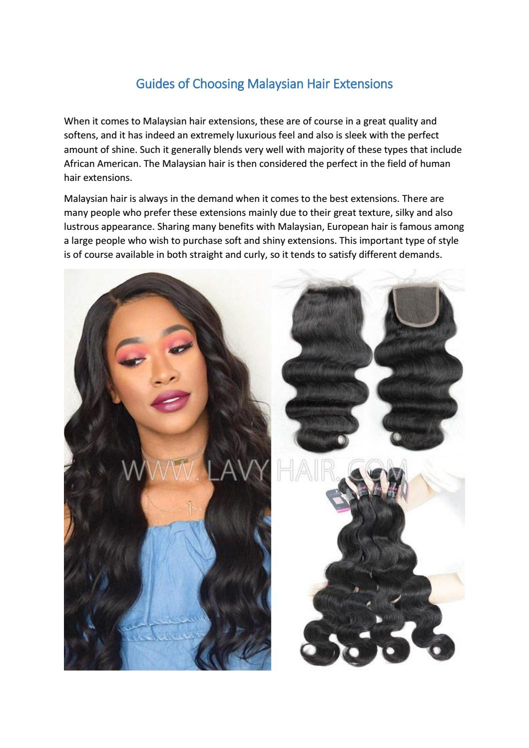 Guides Of Choosing Malaysian Hair Extensions By Lavy Hair Issuu