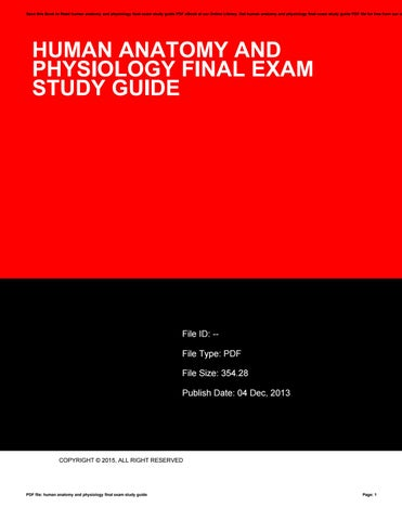 Human anatomy and physiology final exam study guide by ...