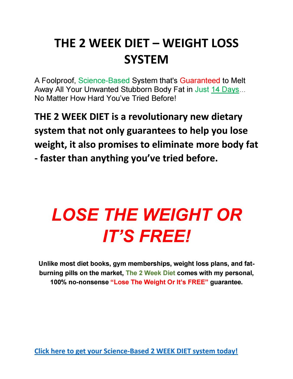 2 Week Diet System By Diana Ric Issuu