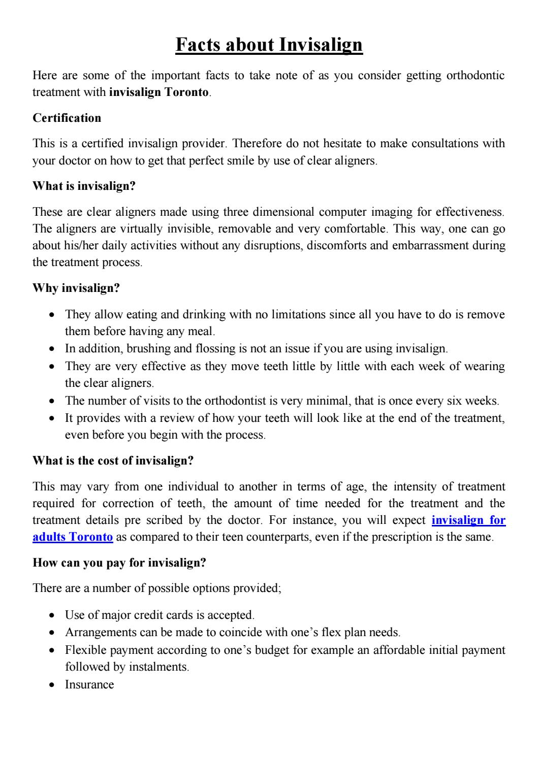 Facts About Invisalign By Borealis Orthodontics Issuu
