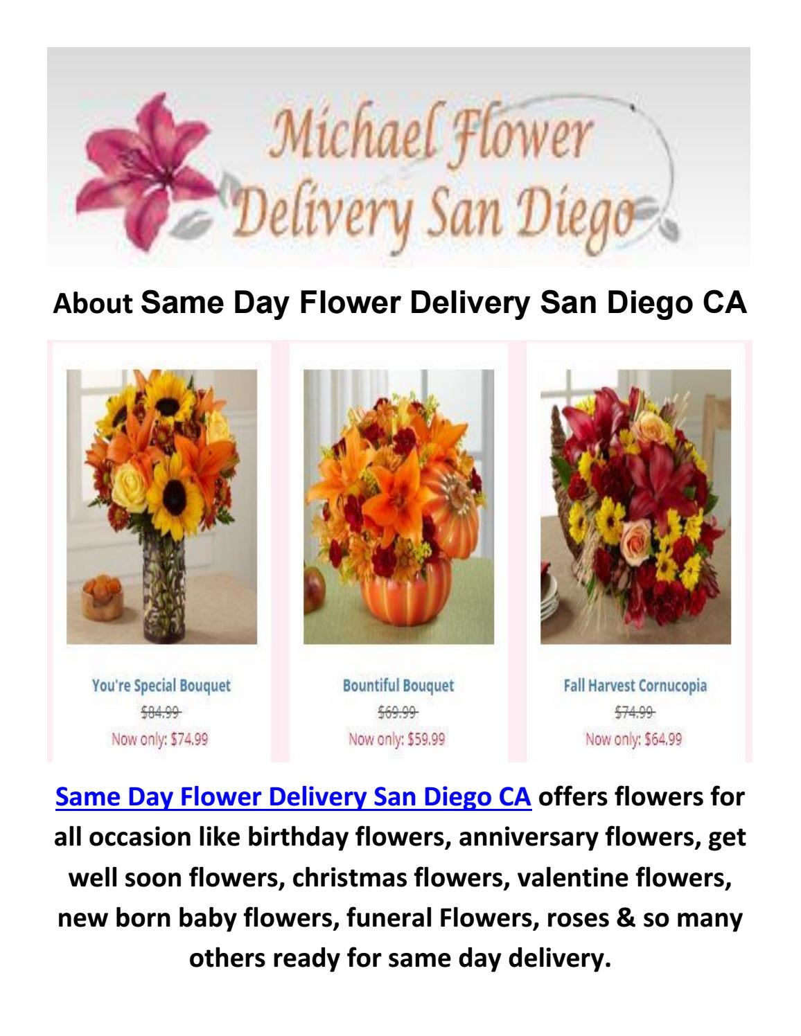 Same Day Send Flower Delivery In San Diego Ca By Same Day Flower