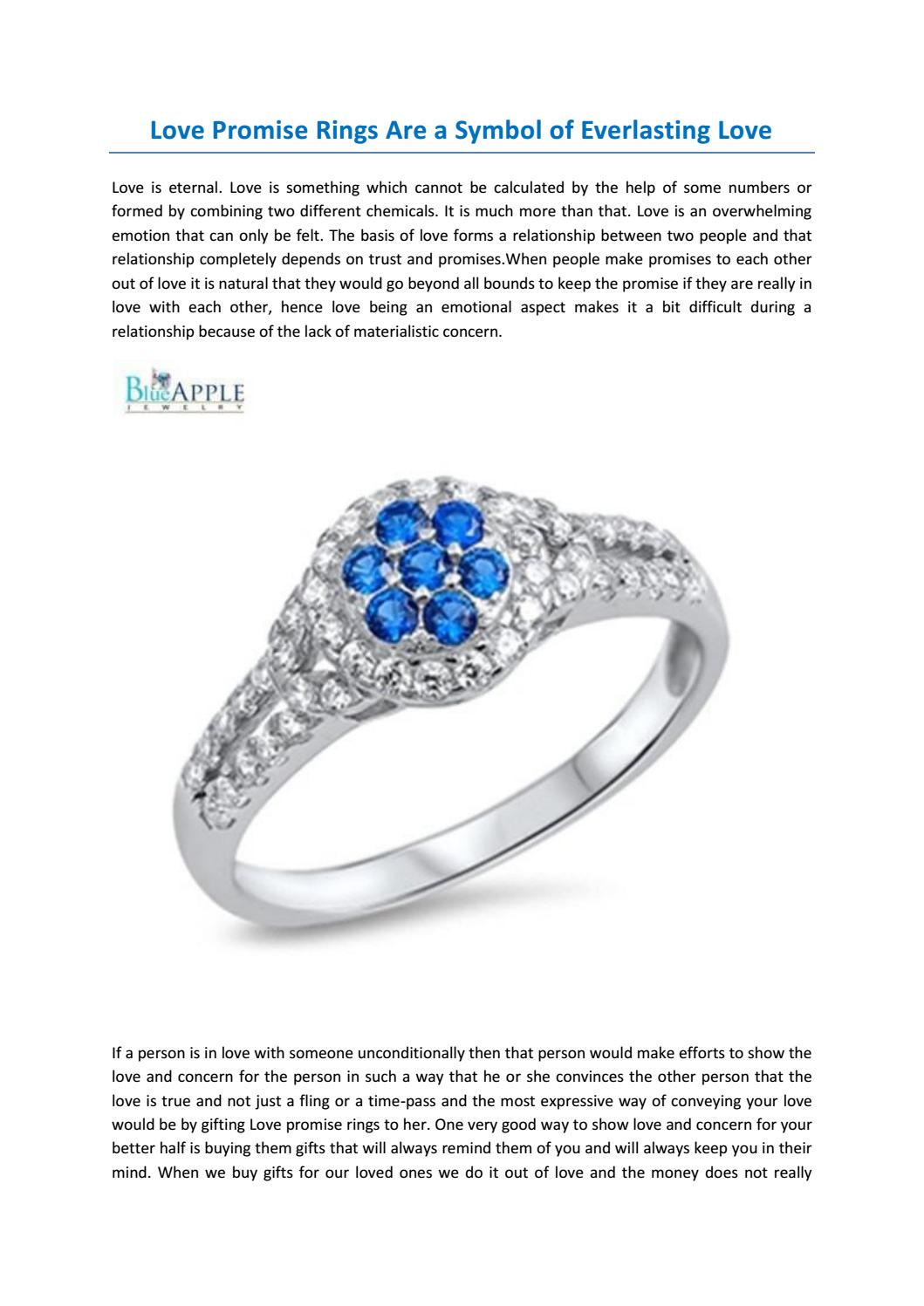 Love Promise Rings Are A Symbol Of Everlasting Love By Blue Apple