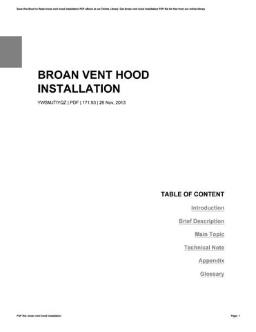 broan vent hood installation by muntia56rine issuu. Black Bedroom Furniture Sets. Home Design Ideas